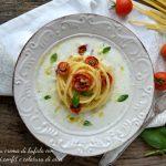 Colatura di alici, pomodorini e mozzarella di bufala